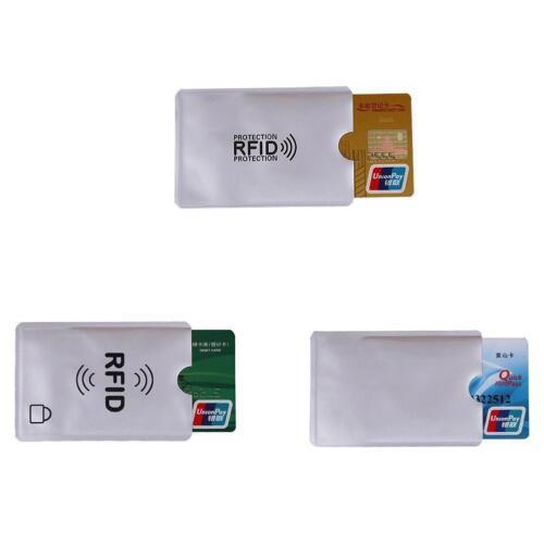 PRO,10x RFID Kreditkarte Schutzhülle Blocker Datenschutz Schild Funk DE O2N9