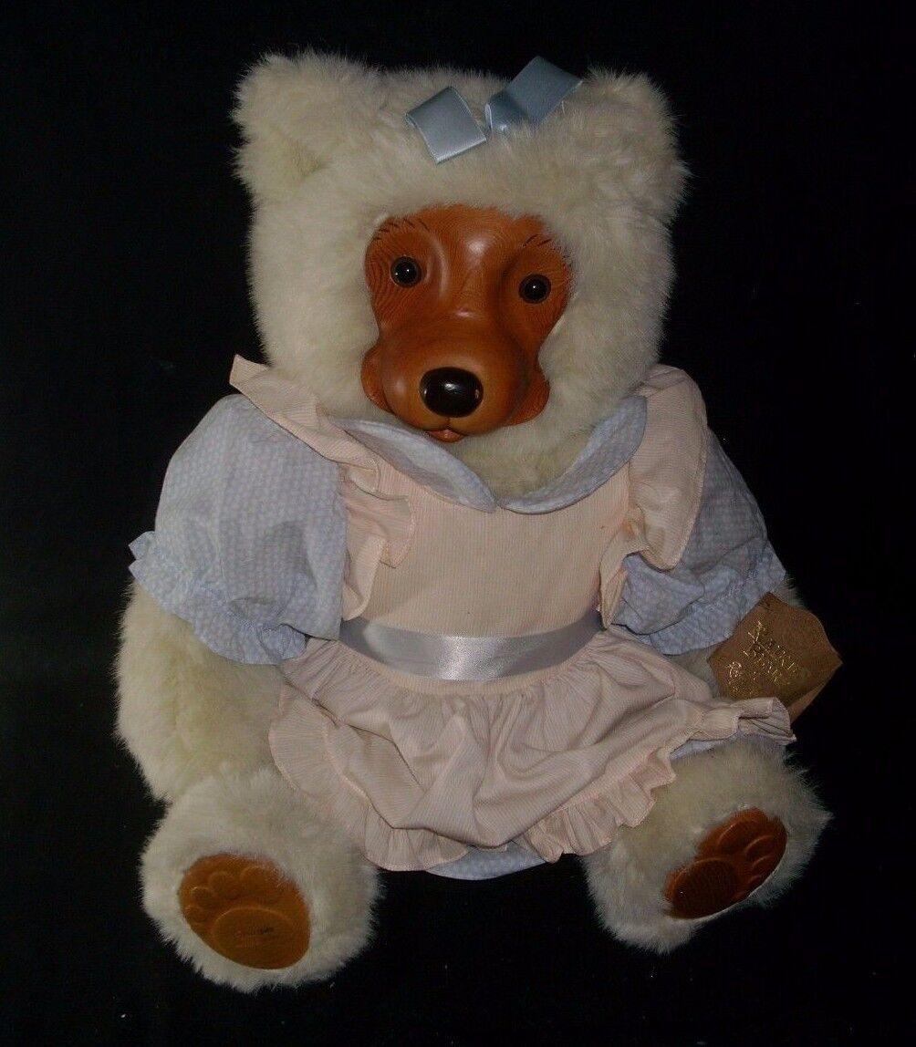 24  VINTAGE 1988 APPLAUSE ROBERT RAIKES EMILY TEDDY BEAR STUFFED ANIMAL PLUSH