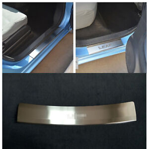 Fits Nissan Leaf 2018 Door Sill Plate Protection Guard Trim Stainless Steel