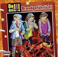 Die drei !!! Ausrufezeichen-34-Brandgefährlich-CD-Hörspiel-OVP-Neu