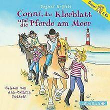 Conni-das-Kleeblatt-und-die-Pferde-am-Meer-2-CDs-Conn-Buch-Zustand-gut
