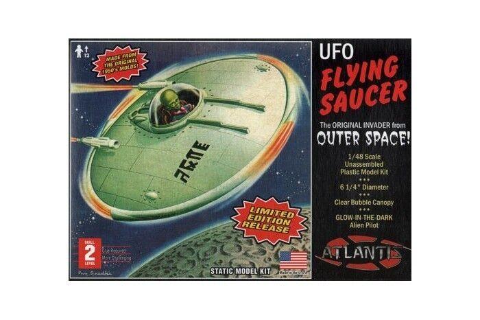 Discontinued Atlantis re-release of lindberg's 1954 UFO Kit 1 48 sealed