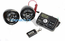 """MOTORCYCLE BOAT FM STEREO RADIO SOUND SYSTEM 3"""" SPEAKER MP3 AUX SD CARD INPUT"""