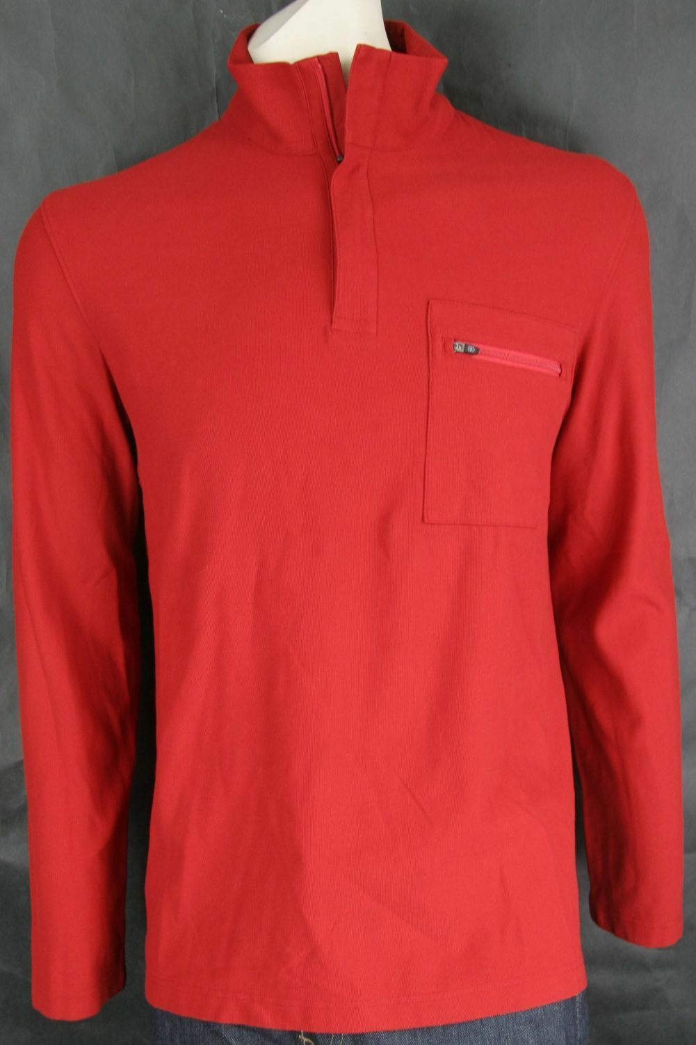 Victorinox  Long Sleeve Tailored Fit 1 4 Zip Mars Red
