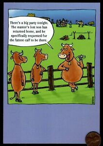 Image Is Loading Birthday Cows Bull Pasture Humorous Religious Greeting