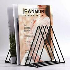 File Folder Holder Metal Vinyl Record Storage Triangle Magazine Organizer Alb