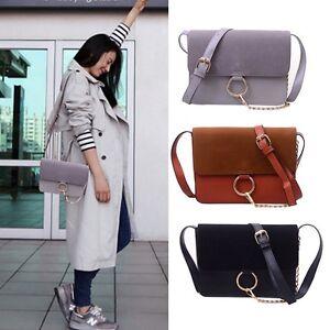 Women-PU-leather-Crossbody-Messenger-Bags-Luxury-Matte-Shoulder-Handbag-Tote-UK