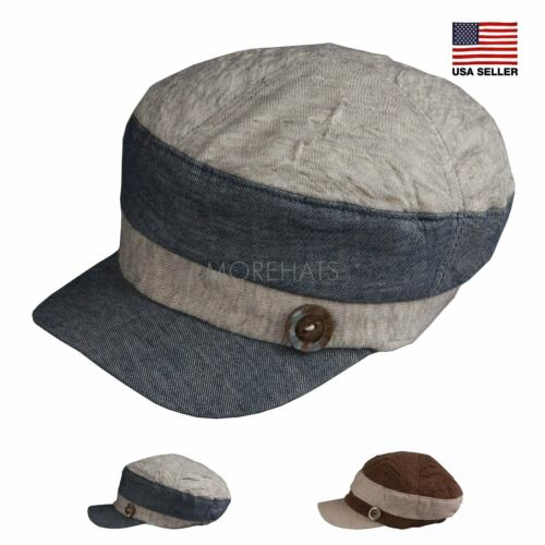 Two Tone Cotton Baseball Cadet Army Cap Hat Soft Packable Military Women/'s Men/'s
