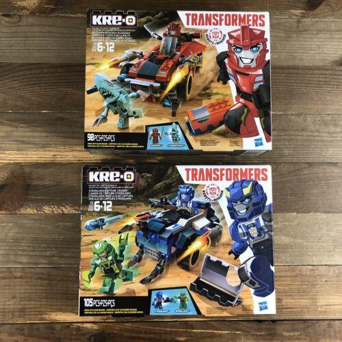Hasbro Kre-O TRANSFORMERS SIDESWIPE /& Strongarm Action Figure building kits NEUF