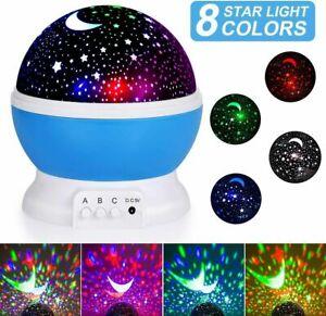 Lámpara Luz Nocturna Juguetes LED Para Niños Proyector Estrella De Luna