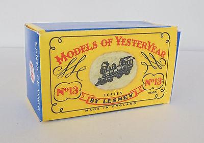 Modellbau Freundschaftlich Repro Box Matchbox Moy Nr.13 Santa Fee Loco In Den Spezifikationen VervollstäNdigen