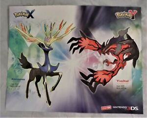 Details about Pokemon X & Y 2 Sided Map / Poster 2013 22 In. X 28 In. on