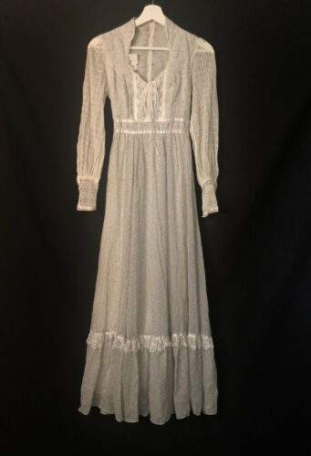 1970s Gunne Sax by Jessica Authentic Victorian Ba… - image 1