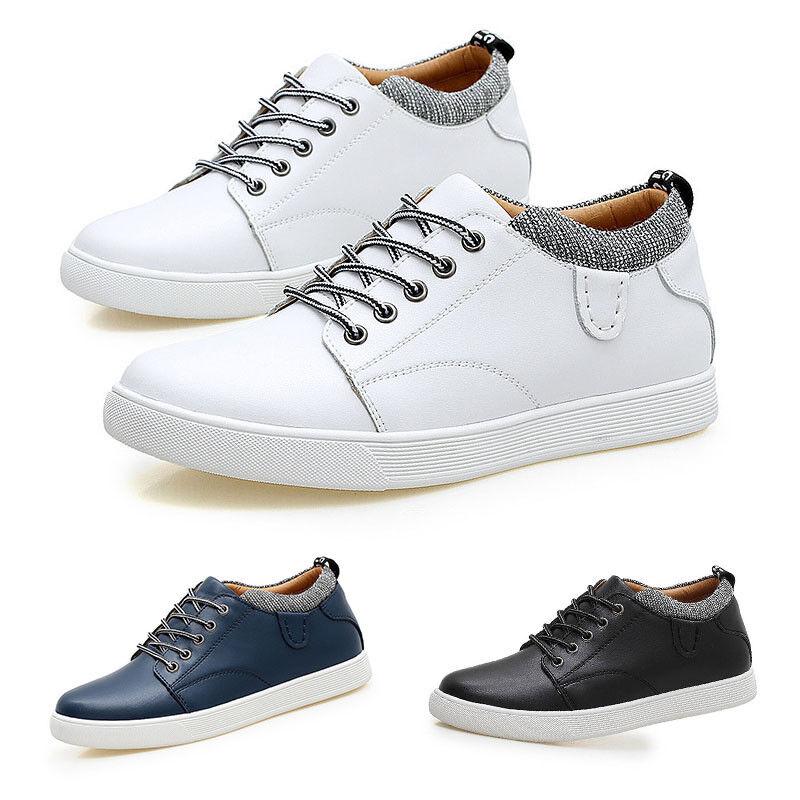 Pop Elevator Men shoes Fashion Hidden Heel shoes Shopping Work Travel Footwear