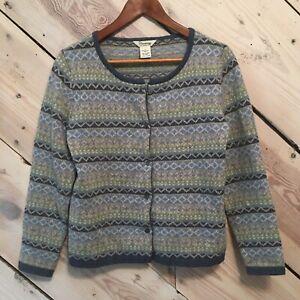 Cambridge-Dry-Goods-Size-Small-100-Lambs-Wool-Sweater-Women-s-Cardigan
