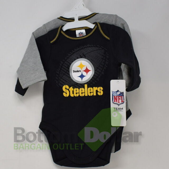 5b17858a NFL Pittsburgh Steelers in My DNA 2 Pack Bodysuit Long Sleeve Size 0 ...