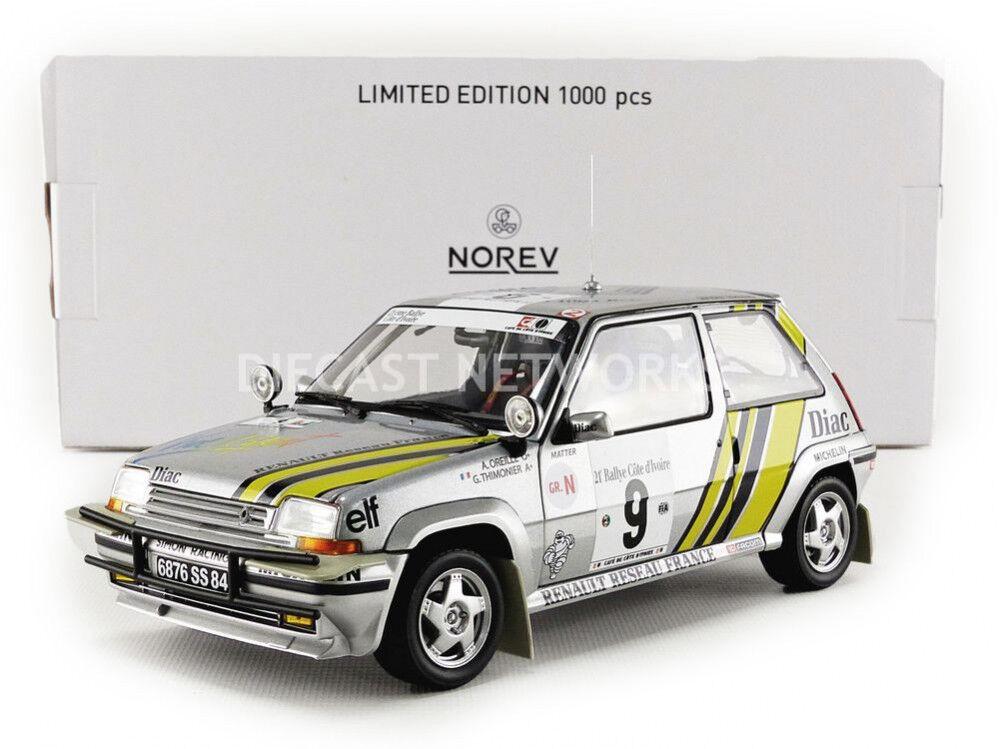Norev - 1 18 - RENAULT 5 GT TURBO-ITALIANA di Rally De Cote Ivoire 1989 - 185198