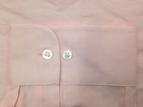 NWT $95 CLUB ROOM Men REGULAR-FIT PINK LONG-SLEEVE BUTTON DRESS SHIRT 15 32//33 M