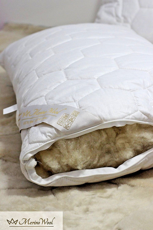 2 Balance Pillow Merino Wool & Cotton Pillows Cover 45x75cm Hypoallergenic NEW