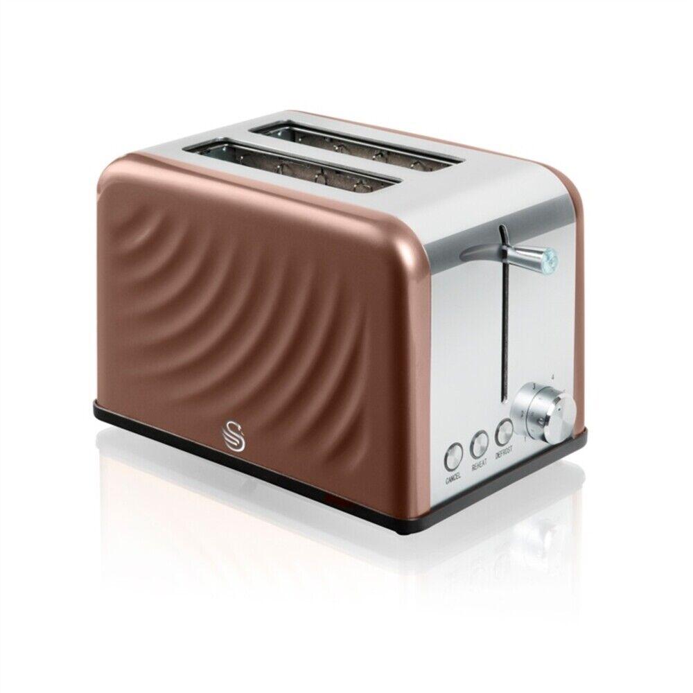 Swan Twist Copper 2 Slice Toaster,