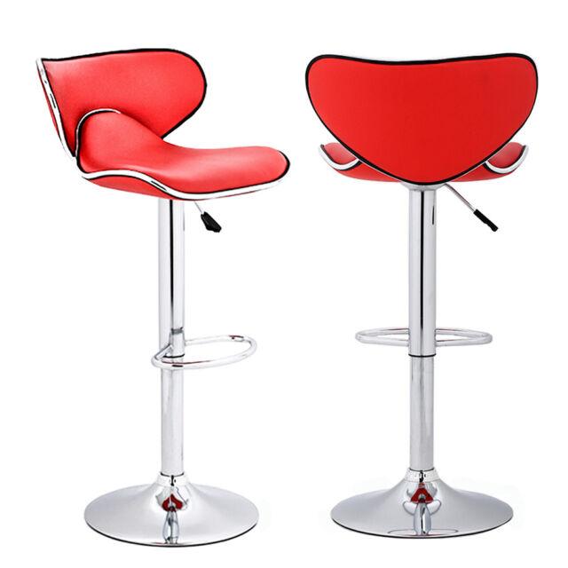 Enjoyable Set Of 2 Adjustable Height Swivel Bar Stools W Chrome Base Counter Height Stool Uwap Interior Chair Design Uwaporg