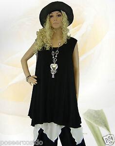 Long Shirt xxxl L Top xxl xl 44 Poco Schwarz Tunika 58 Basic Lagenlook Design wBIa7cqX1