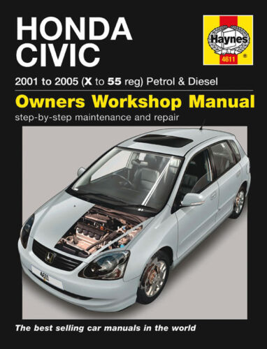 haynes honda civic 01 05 workshop repair book manual 4611 condtion rh ebay com haynes manual honda fit haynes manual honda civic 96-00