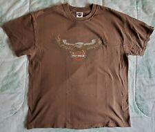 Harley Davidson Mens Carved Short Sleeve T-Shirt Brown 402902440