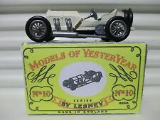 MATCHBOX 1958 MODELS of YESTERYEAR Y10 1908 Cream +Dk Grn TYPE 2 SEATS MERCEDES