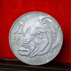 Details about New 2019 Year of the Pig Zodiac Commemorative Coin Old Silver  Coin Hot Sale Nice