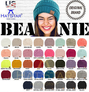 8724c96b50e Image is loading New-Womens-Knit-Slouchy-Beanie-Oversized-Thick-Cap-