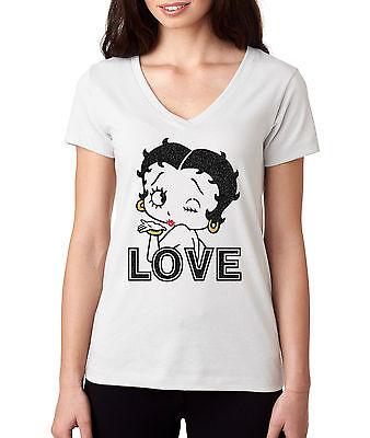Betty Boop Cartoon Character Icon Enchanted Mermaid Women/'s T-Shirt Tee