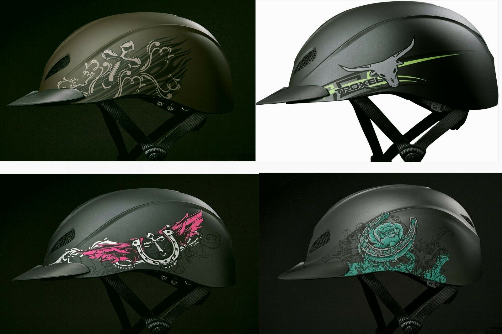 Troxel REBEL Safety Riding Training Helmet Western English Cross Turquoise pink