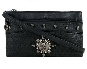 GOTHX-SKULL-HEAD-STAR-Crystal-Ladies-Handbag-Clutch-Evening-Rock-Goth-Gothic-Bag