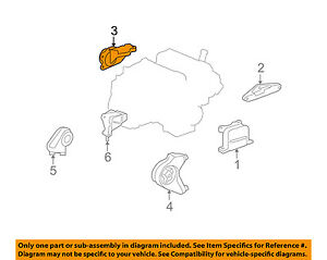 saturn gm oem vue engine motor transmission-upper transmission mount  25827638 | ebay  ebay