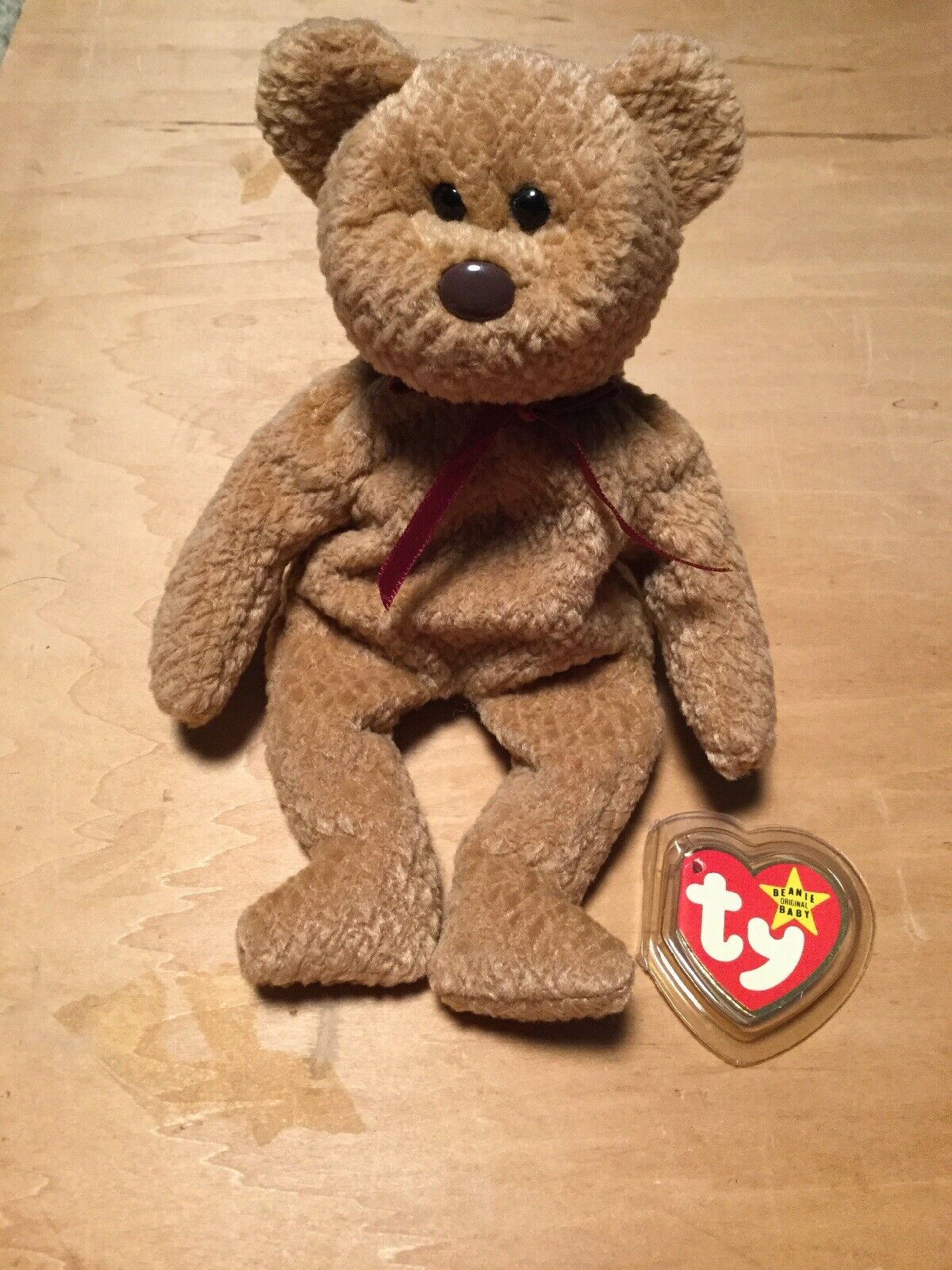 1996 Ty Curly Bear Beanie Baby Original Detached Tag With Errors Super Rare