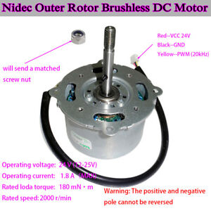 Nidec-12V-24V-Outer-Rotor-PWM-DC-Brushless-Frequency-Motor-Dual-Ball-Bearing-FY