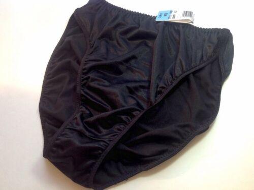 Women Panties,Bikinis GELMART Size Medium Black Satin Soft Shiny
