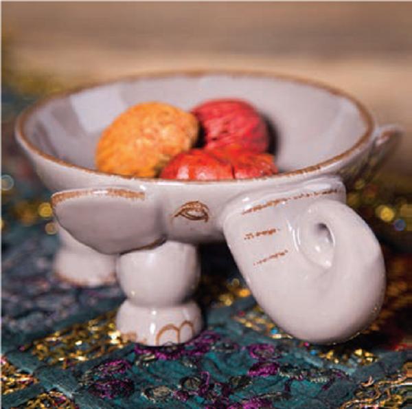 "f4d9e0d83d94c Home Essentials Ceramic Elephant Fruit Bowl – 10"" (77517) for sale online |  eBay"