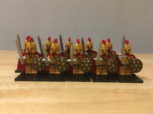 Greek Unbranded Custom Figures which fit lego Studs Spartan Type Soldiers 10