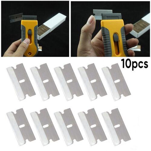 10 Edelstahl Rasiermesser Schaberklingen Single Edge Box Cutter Auto Fensterglas