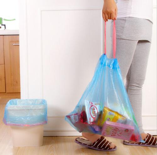 Kitchen Bathroom Drawstring Trash Bag Waste Trash Garbage Bags Clean Up