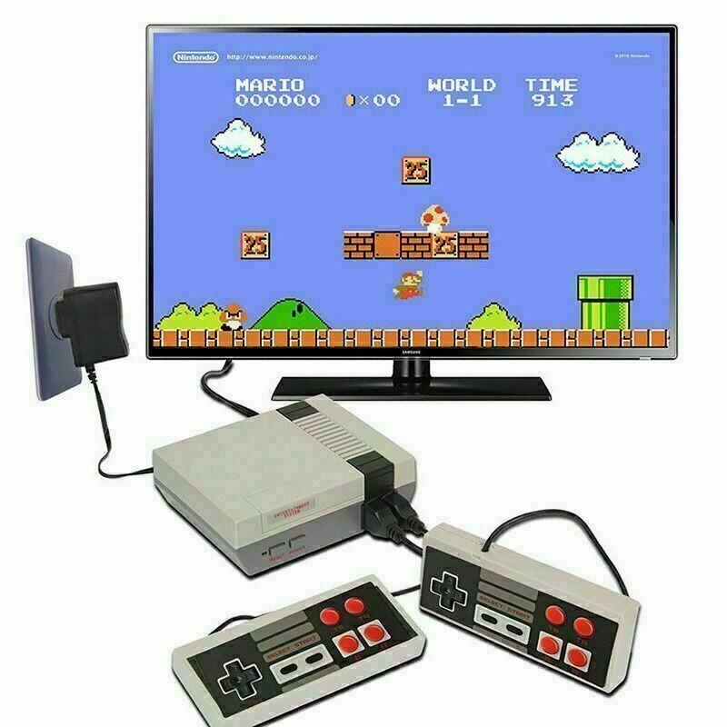 videogiochi e console: MINI CONSOLE GIOCHI CLASSIC RETRO PER NES 2 CONTROLLER TIPO NINTENDO 500 in 1