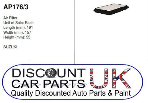 1.3 16V 4x4 PETROL 08//05/> Air Filter to Suit JIMNY