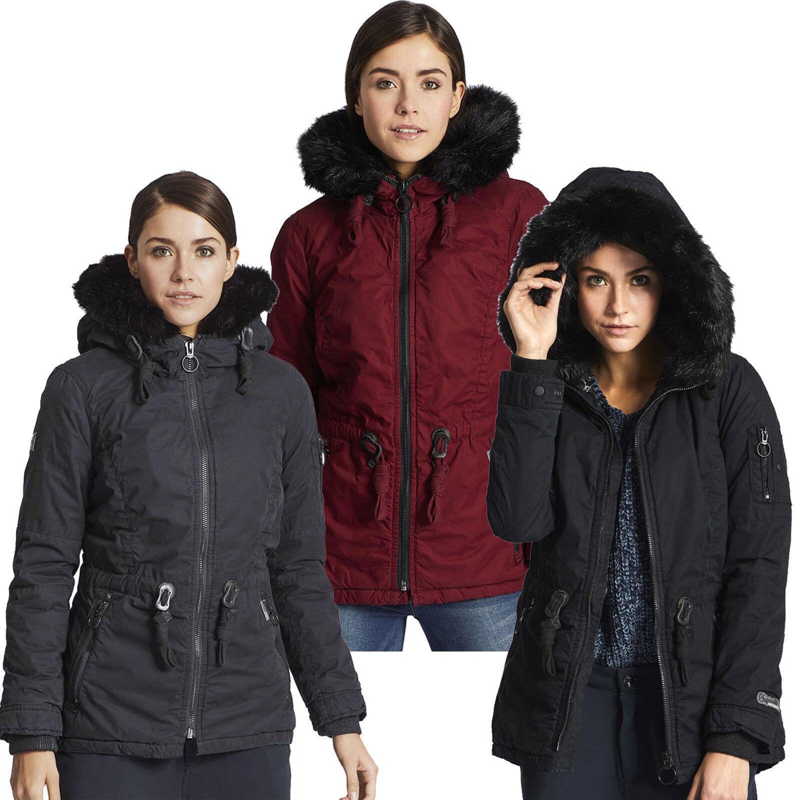 Abrigo corto de invierno para mujer de Khujo sontje Chaqueta Parka acolchada