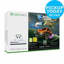 Microsoft Xbox One S 500GB Rocket League Blast-Off Console Bundle - White
