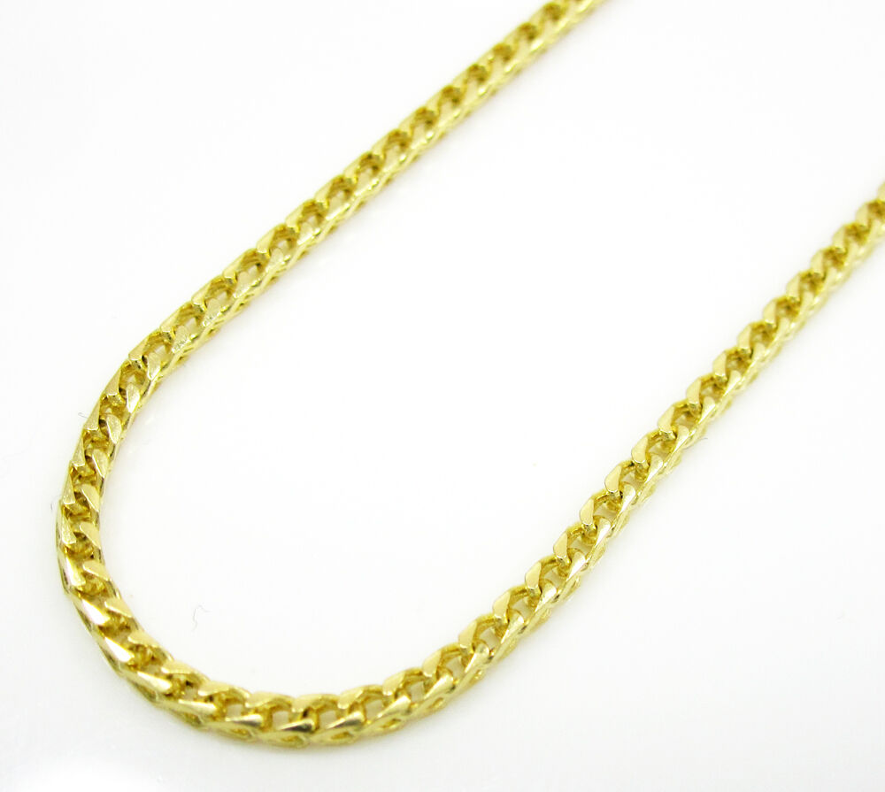 14K YELLOW Gold SOLID FRANCO Chain - 16 Inches Long 1.1MM Wide q6Q3rxNZ