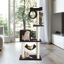 """PawHut 55"""" Cat Tree Kitty Furniture Toy Condos Posts House Scratching Pet Supply"""