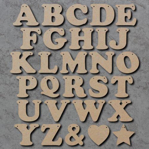 Prix par lettre Découpe Laser MDF Craft Formes Lettre en bois Bunting ALPHABET