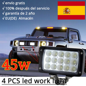 4-X-45W-LED-Luces-de-trabajo-FOCO-ILUMINAR-Jeep-camion-Tractor-conduccion-12v